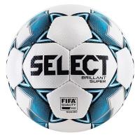 Мяч для футбола SELECT Brillant Super FIFA White/Cyan 810108-199