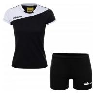 Комплект Mikasa Kit W T-shirt+Shorts Black/White MT375-046