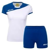 Комплект Mikasa Kit W T-shirt+Shorts White/Blue MT376-018