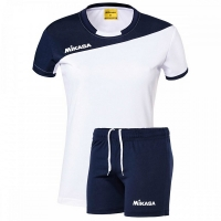 Комплект Mikasa Kit W T-shirt+Shorts White/Dark Blue MT376-023