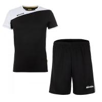 Комплект Mikasa Kit M T-shirt+Shorts Black/White MT350-046