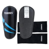 Щитки футбольные TORRES Pro x2 Black/Cyan FS1608