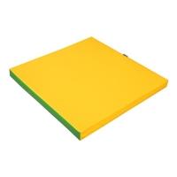 Мат гимнастический 1x1x0.08m Green/Yellow KU128 KETT-UP