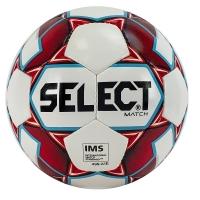 Мяч для футбола SELECT Match IMS White/Red 814019-059