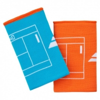 Напульсник Babolat Wristband Reversible JB Turquoise/Orange 5UA1281-4084