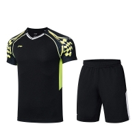 Комплект Li-Ning Kit M T-shirt+Shorts Black AATR003-4
