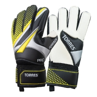 Перчатки вратарские TORRES Pro Black/Yellow FG05197