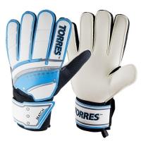 Перчатки вратарские TORRES Match White/Cyan FG0506