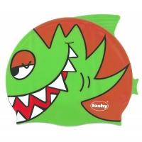 Шапочка для плавания FASHY Childrens Silicone Cap Junior Green/Orange 3048-00-63