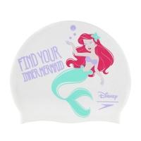 Шапочка для плавания SPEEDO Mermaid Slogan Print Junior White 8-08386D566