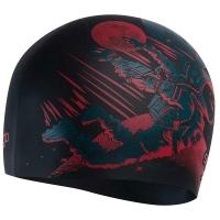 Шапочка для плавания SPEEDO Slogan Cap Junior Black/Red 8-08386F287