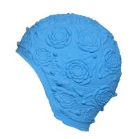 Шапочка для плавания FASHY Latex Ornament Cap Cyan 3102-00-75