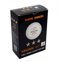 Мячи Kingnik 3* SL 40+ Plastic x6 White