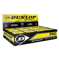 Мячи для сквоша Dunlop Pro Double Yellow Dot x12