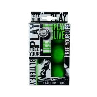 Мячи для настольного тенниса Butterfly Free Your Style 40+ Plastic x6 85215S Green