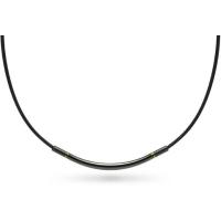 Ожерелье спортивное Phiten Rakuwa X100 Metax Round Black/Gold