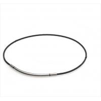 Ожерелье спортивное Phiten Rakuwa X100 Metax Round Black/Silver