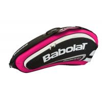 Чехол 4-6 ракеток Babolat Team Line Badminton 751111 Black/Pink