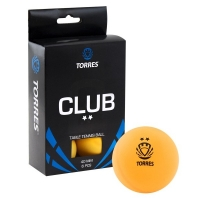 Мячи для настольного тенниса TORRES 2* Club 40+ Plastic x6 TT0013 Orange