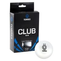 Мячи для настольного тенниса TORRES 2* Club 40+ Plastic x6 TT0014 White