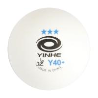 Мячи для настольного тенниса Yinhe 3* SL Y40+ Plastic x6 9993Y White