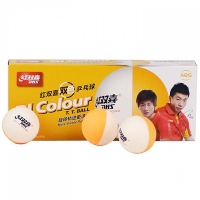 Мячи для настольного тенниса DHS BI-Colour x10 White/Orange
