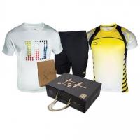 Комплект Li-Ning Kit M T-shirt+Shorts AQCP003-1 White/Yellow