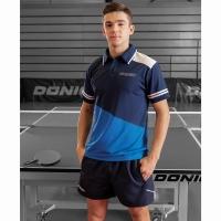 Поло Donic Polo Shirt M Primeflex Blue/Cyan