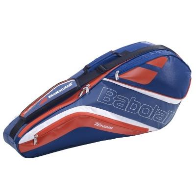 Чехол 1-3 ракетки Babolat Team Line Badminton Dark Blue/Red 757006