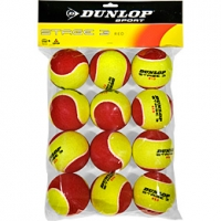 Мячи для большого тенниса Dunlop Stage 3 Polybag x12 Red