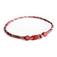Ожерелье спортивное Phiten Rakuwa X30 Monotone White/Red