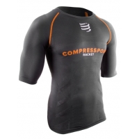 Футболка Compressport T-Shirt Racket SS Black