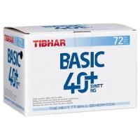 Мячи для настольного тенниса Tibhar Basic SYNTT NG 40+ Plastic x72 White
