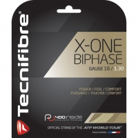 Струна для тенниса Tecnifibre 12m X-One Biphase 01GXON Natural