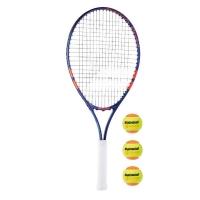 Набор для тенниса Babolat Junior French Open 25 + Orange 3B 190011 Blue/Red