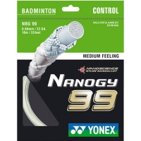 Струна для бадминтона Yonex 10m BG-99 Prepacked White