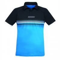 Поло Donic Polo Shirt JU Draft Black/Cyan