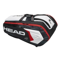 Чехол 10-12 ракеток Head Djokovic Monstercombi 283008 Black/White
