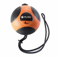 Медицинбол Medicine Ball With Rope 4kg P2I110080 PURE2IMPROVE