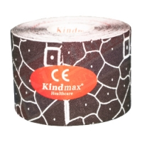 Тейп KINDMAX Classic Cotton Disigned Tension Indicator TK50-01 50x5000mm Black/White