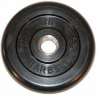 Диск обрезиненный 26mm 2.5kg MB-PltB26-2.5 MB Barbell