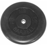 Диск обрезиненный 31mm 15kg MB-PltB31-15 MB Barbell