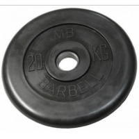 Диск обрезиненный 31mm 20kg MB-PltB31-20 MB Barbell