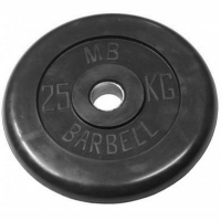 Диск обрезиненный 51mm 25kg MB-PltB51-25 MB Barbell