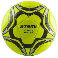 Мяч для футбола ATEMI ATTACK WINTER PU Light Green