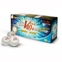 Мячи Double Fish 3* V40+ ITTF Plastic ABS x10 White V111F