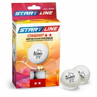 Мячи для настольного тенниса Start Line 2* Standart 40+ Plastic x6 8332 White