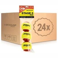 Мячи для большого тенниса Dunlop Red Stage 3 3b Box x72 605053