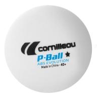 Мячи для настольного тенниса Cornilleau 1* P-Ball ABS Evolution 40+ Plastic x72 320655 White