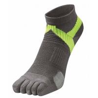 Носки спортивные Phiten Socks 5 Toe AL9177 Grey/Yellow